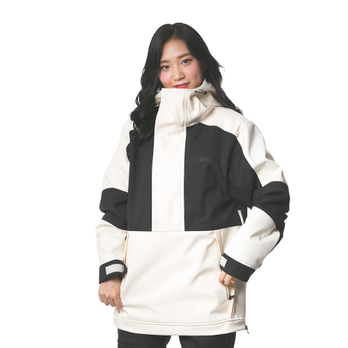 MELLOW ANORAK / BLACK CREAM